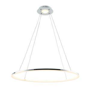 (EU Stock) Ceiling Lights Modern LED Acrylic Pendant Light  Living LED Ring Lights 60CM Warm White(Angel's Halo)