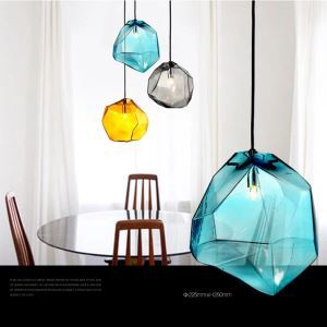 Contemporary Colorful Mini Pendant Light with one light