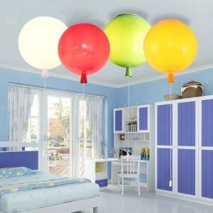 Simple and Warm Children's Room Lighting LED Modern Creative Bedroom Light Living Room Dining Room Light Balloon Flush Mount