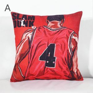 Cartoon Animation Car Pillowcase SLAM DUNK Hanamichi Sakuragi Rukawa Kaede Car Cotton Linen Pillowcase