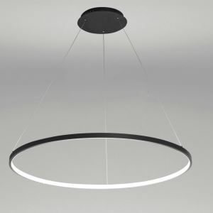 (In Stock)LED Pendant Light Nordic Modern Ring Black Bedroom Dinging Room Living Room Bar Single Ring