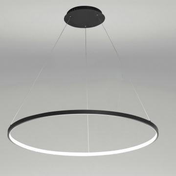 Nordic Modern Ring LED Pendant Light Black Bedroom Dinging Room Living Bar Single
