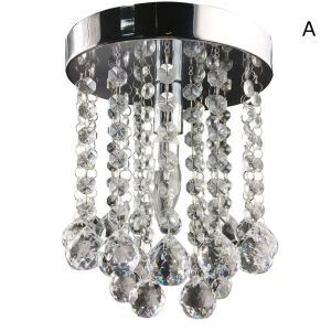 $19.99 Free Shipping Mini Modern Chrome Plating Crystal Flush Mount K9 Crystal Double Layer Crystal Ball For Living Room, Bedroom, Dining Room