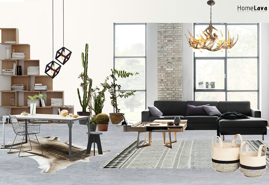 Urban loft living room