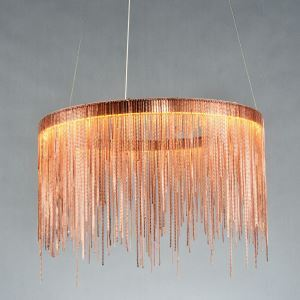 Nordic Creative Postmodern LED Lighting Tassel Aluminum Chain Bar Dining Room Pendant Light