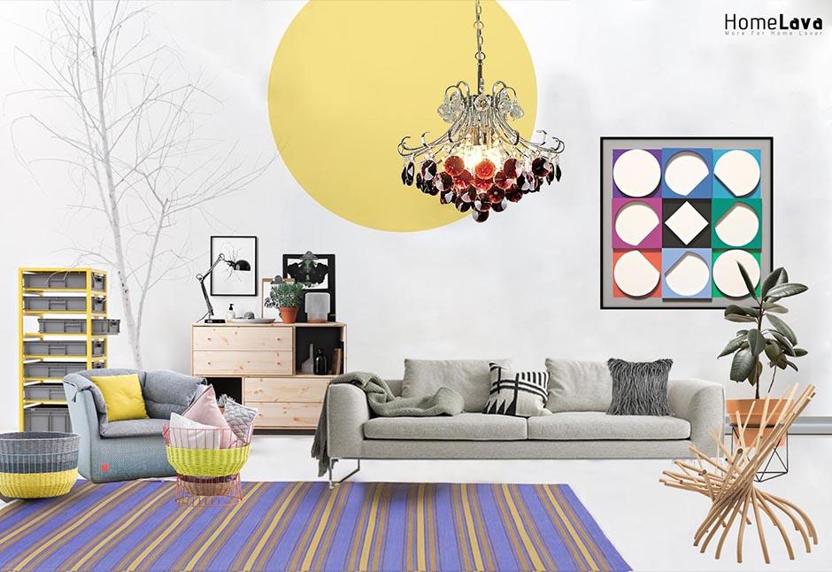 Modern fashion living room
