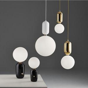 Nordic Modern Metal Frosted Glass Light Modern Minimalist Creative Study Room Bedroom Bar Pendant Light Single Light 3 Options