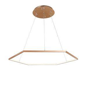 Nordic Modern LED Light Gold Hexagon Restaurant Bar Light Simple Creative Pendant Light Single Light