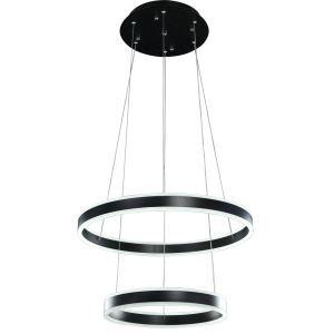 Nordic Modern LED Light Black Round Restaurant Bar Simple Creative Pendant Light 2 Lights