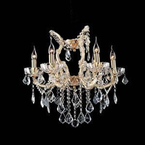 Nordic Modern Gold Crystal Chandelier Living Room Dining Room Bedroom Lighting 6 Lights