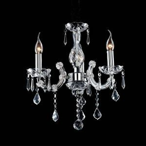 Nordic Modern Chrome Crystal Chandelier Living Room Dining Room Bedroom Lighting 3 Lights