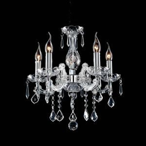 Nordic Modern Chrome Crystal Chandelier Living Room Dining Room Bedroom Lighting 4 Lights