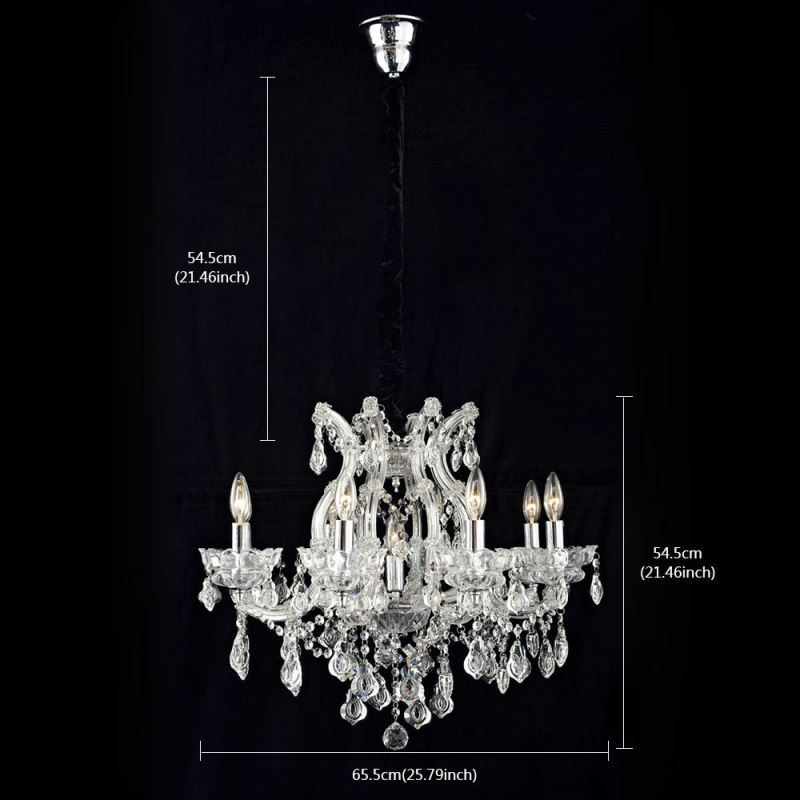 Nordic modern clear glass crystal chandelier living room dining room nordic modern clear glass crystal chandelier living room dining room bedroom lighting 8 lights img4 aloadofball Choice Image