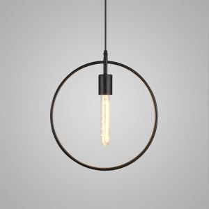 Nordic Retro Geometric Iron Craft Pendant Light Cafe Restaurant Bar Lighting Single Light