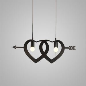 Nordic Retro Iron Craft Pendant Light Cafe Dining Room Bedroom Lighting 2 Lights