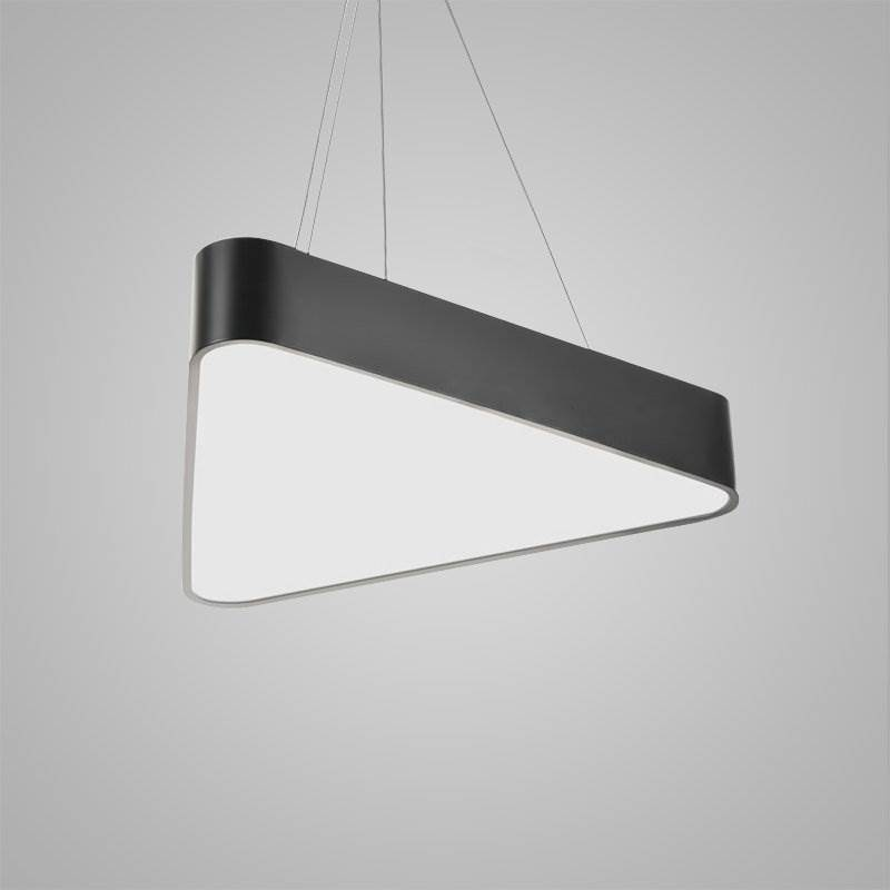 Nordic Modern LED Pendant Light Black Triangle Bedroom
