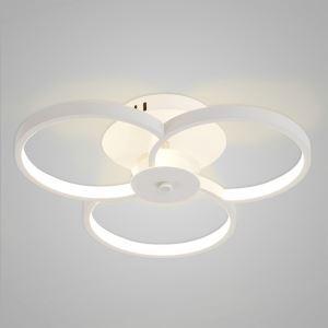 Nordic Modern LED Flush Mount White Bedroom Living Room Kitchen Lighting
