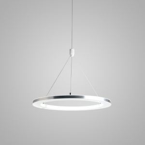 Nordic Modern LED Pendant Light Silver White Circle Bedroom Living Room Kitchen Lighting
