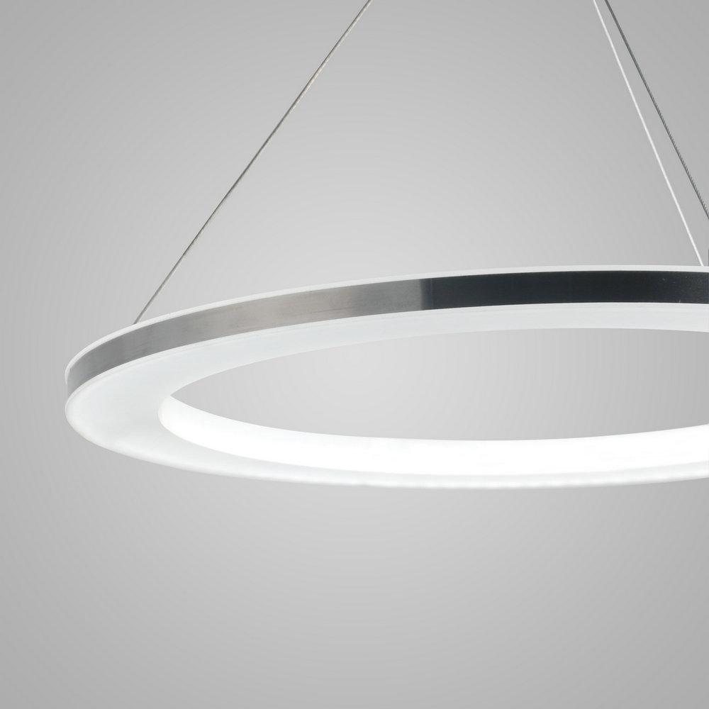 Modern LED Ceiling Lights Silver White Circle Pendant Light Bedroom ...