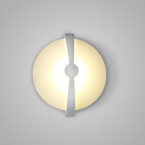 Nordic Modern LED Wall Light White Round Bedroom Living Room Kitchen Lighting