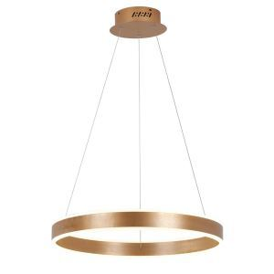 Nordic Modern Circle LED Pendant Light Gold Brushed Finish Living Room Dining Room Bar Light Single Circle