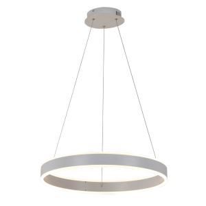 Nordic Modern Circle LED Pendant Light White Brushed Finish Living Room Dining Room Bar Light Single Circle