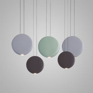 Nordic Postmodern LED Pendant Light Resin Round Living Room Dining Room Bedroom Light 3 Options