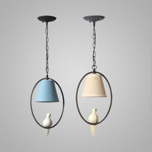 American Rural Style Creative Bird Pendant Light Living Room Bedroom Bar Light