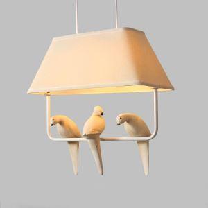 American Rural Style Creative Bird Pendant Light Living Room Bedroom Bar Light