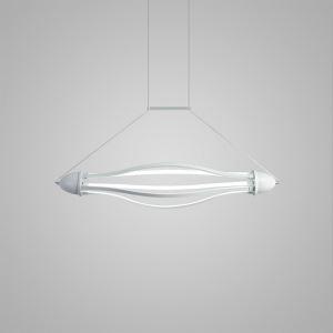 Nordic Modern Creative Hollow LED Pendant Light White Bedroom Living Room Dining Room Lighting Inside Edge Glowing