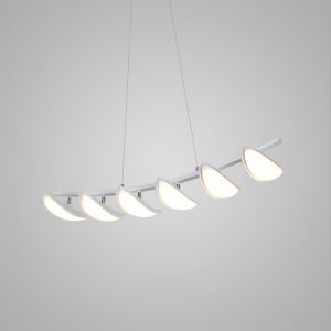 Nordic Modern Creative Simple Crescent Sailing LED Pendant Light White Bedroom Living Room Dining Room Lighting