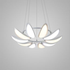 Nordic Modern Creative Simple Flower Design LED Pendant Light White Bedroom Living Room Dining Room Lighting