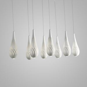 Nordic Modern Creative Simple Hollow Vase Modeling LED Pendant Light White Bedroom Living Room Dining Room Lighting 8 Lights