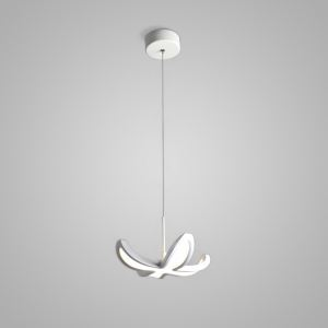 Nordic Modern Creative Simple Flower Design LED Light White Bedroom Living Room Dining Room Lighting Single Light