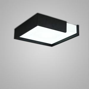 Nordic Modern Creative Simple LED Flush Mount Square Design Bedroom Living Room Dining Room Lighting Black and White 2 Options