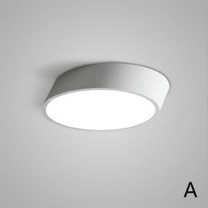 Nordic Modern Creative Simple LED Flush Mount Oval Design Bedroom Living Room Dining Room Lighting Black and White 2 Options