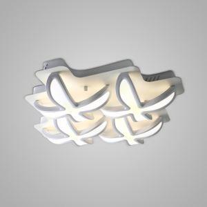 Nordic Modern Creative Simple Flower Design LED Flush Mount White Bedroom Living Room Dining Room Lighting