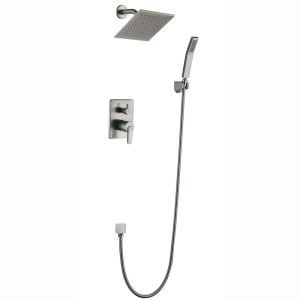 Modern Simple Style Brushed Finish Bathroom Shower Faucet Four Holes Single Handle