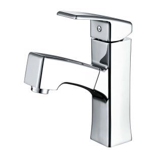 Modern Simple Style Chrome Plating Pulling Kitchen Faucet Hot and Cold Switch Single Hole Single Handle