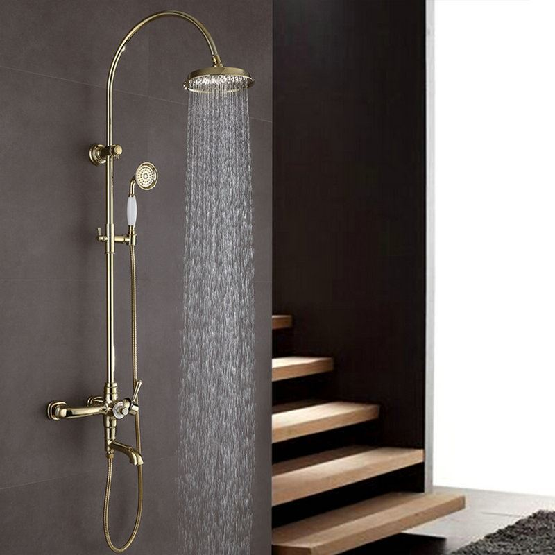 Modern Shower Faucet Simple Style Ti-PVD Bathroom Shower Faucet Hot ...