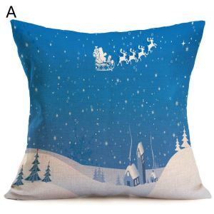 Christmas Decorative Pillow Christmas Theme Pillowcase 6 Options