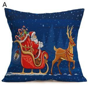 Christmas Decorative Pillow Christmas Theme Pillowcase 6 Options