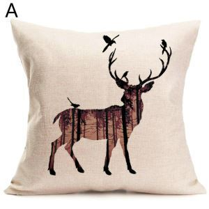 Elk Christmas Theme Pillowcase 4 Options