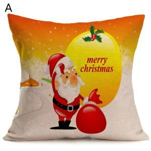 Cartoon Cute Santa Claus Christmas Theme Pillowcase 5 Options