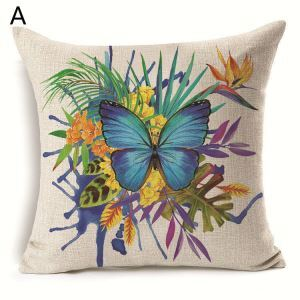 Christmas Pillow Colorful Butterfly Christmas Theme Pillowcase 7 Options