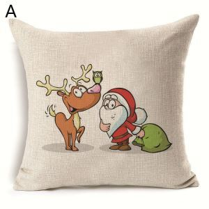Christmas Deer Christmas Theme Pillowcase 6 Options