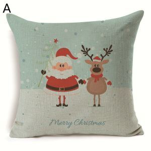 Santa Claus Christmas Deer Christmas Theme Pillowcase 7 Options