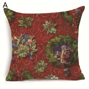Santa Claus Christmas Deer Christmas Theme Pillowcase 7 Options