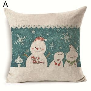 Christmas Snowman Christmas Theme Pillowcase 7 Options