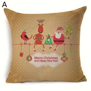 Santa Claus Christmas Deer Snowman Christmas Theme Pillowcase 6 Options